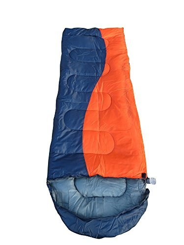 Camping Outdoor Trekking Sleeping Bag-Blue/Orange