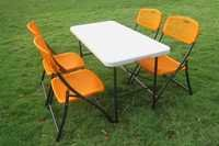 Folding Garden Dining Table-Chairs Set (4+1)