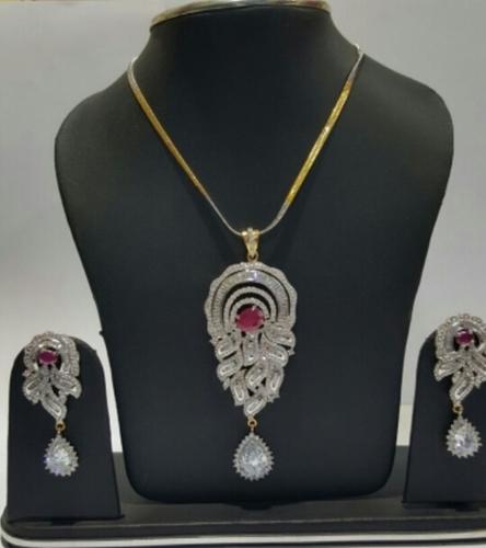 Partywear CZ Necklace Set