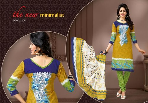 Five Star  Cotton Printed Dress Material