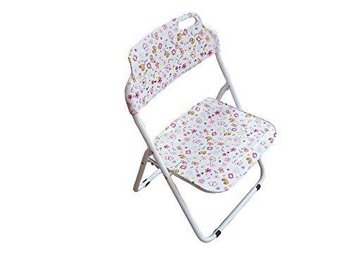 Folding Kids Chair Pink Butterfly