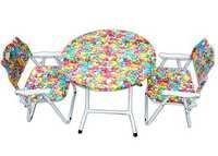 Folding Kids Table-Chair Set-Baloons