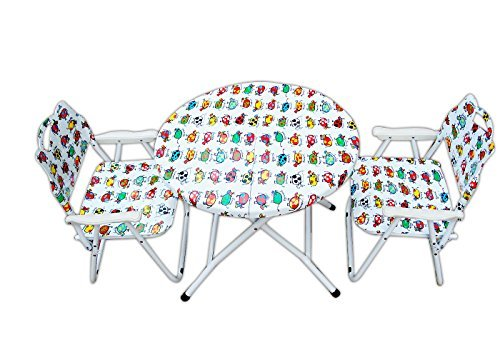 Folding Kids Table-Chair Set-Animals