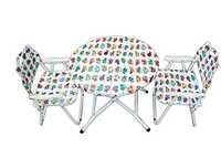 Folding Kids Table-Chair Set-Animals