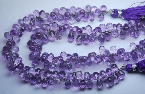 Brazil Amethyst Faceted Drops