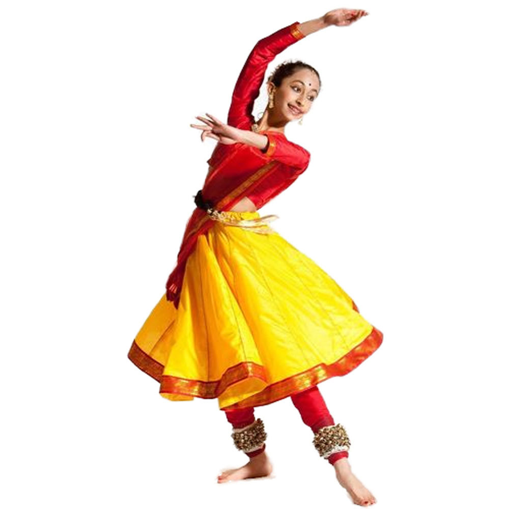 Yellow Kathak Dance Costume