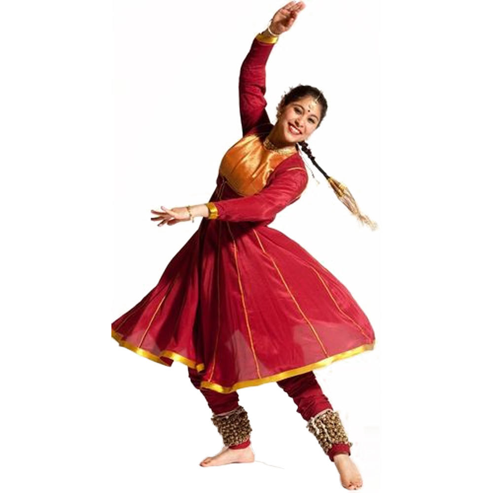 6c65efe1c607 Red Kathak Dance Costume - PUSHKAR FASHION INDUSTRY