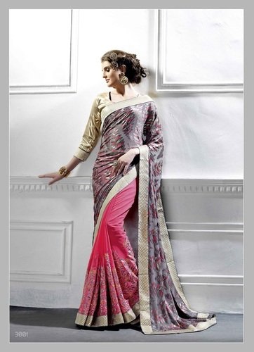Fancy Designer Exclusive Latest Georgette Saree