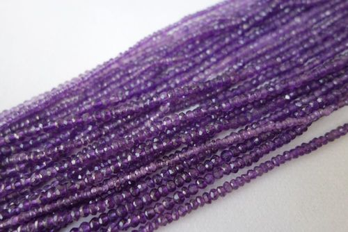 Amethyst Faceted Rondelle
