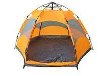 Auto Pop Up Camping Tent, 4 person (Yellow)
