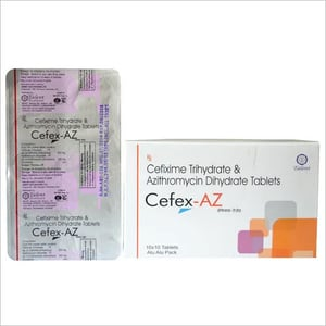 Cefixime Trihydrate and Azithromycin Dihydrate Tablets