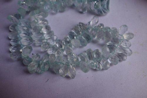 Aquamarine Faceted Drops