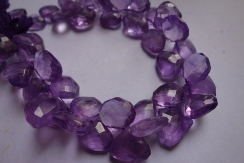 Amethyst Faceted Drops
