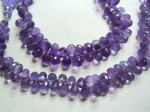 Purple Amethyst Tear Drops