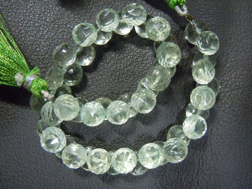 Green Amethyst Faceted Onion