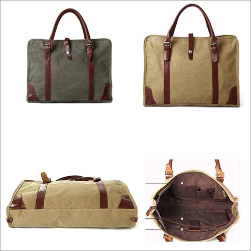 Canvas Leather hand Bag