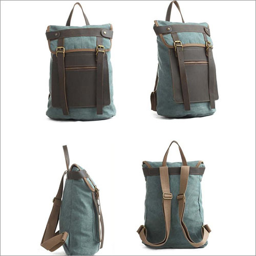Canvas Fashion  Leather Bag