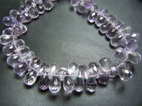Pink Amethyst Faceted Brioletters