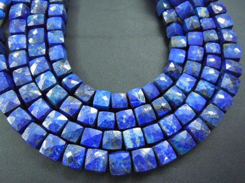 Lapis Lazuli Faceted Cube