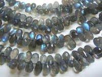 Blue Labradorite Faceted Brioletters