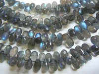 Blue Labradorite Faceted Brioletters