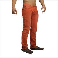 Men's Orange Jeans