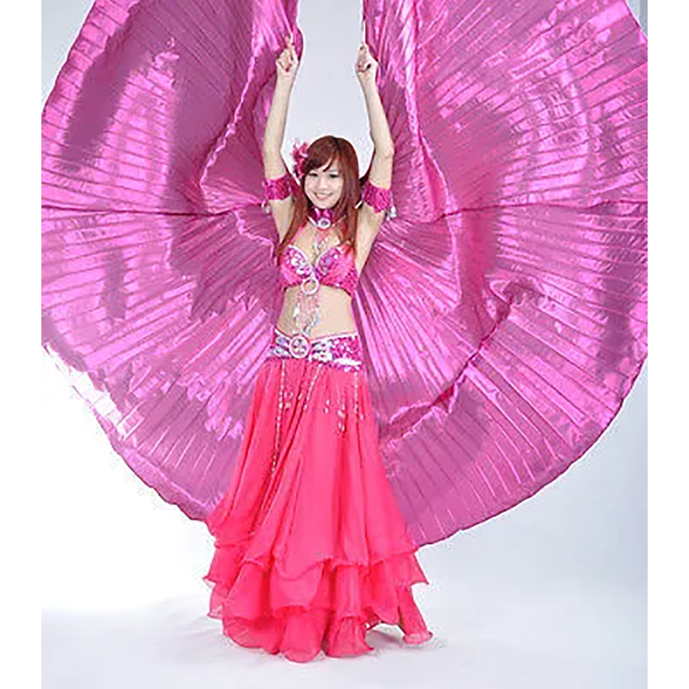 Purple Belly Dance ISIS Wing with Top Skirt