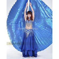 Blue Belly Dance ISIS Wing with top skirt