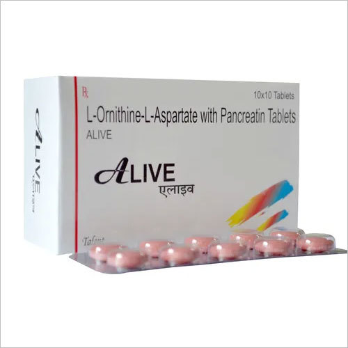 L-Ornithine-L-Asparate with Pancreatin Tablets