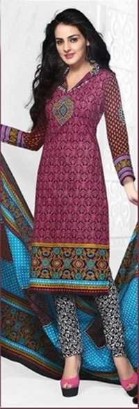 Multicolor Cotton Printed Ethnic Salwar Suit