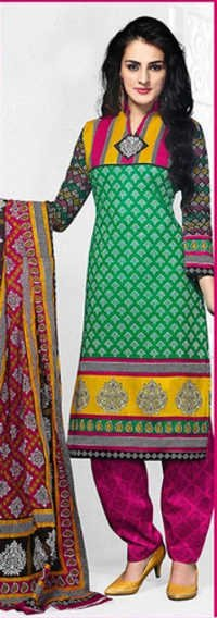 Multicolor Cotton Printed VThe intage Salwar Suit