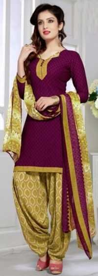 Maroon Synthetic Printed Bollywood Salwar Suit