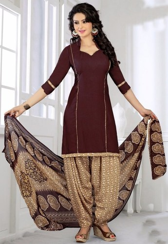 Multicolor Synthetic Printed Light Weight Salwar Suit
