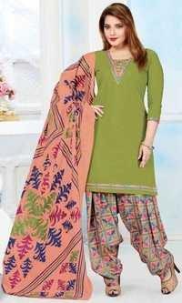 Green Cotton Printed Light Weight Salwar Suit