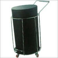 Stainless Steel Dustbin With Trolley