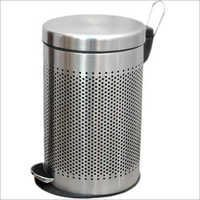 SS Round Perforated Pedal Bin