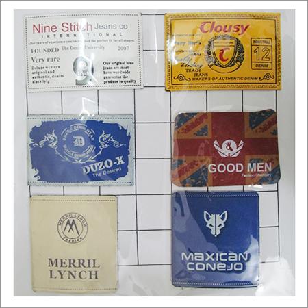 Custom Leather Jeans Labels
