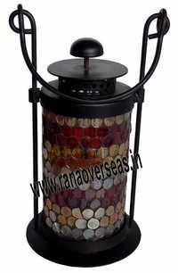Iron Glass Colorful Lantern