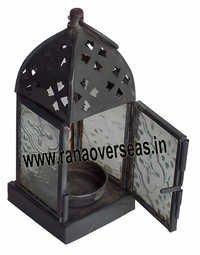 Iron Metal Small Tea Light Lanterns 10313