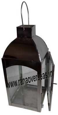 Steel Glass Lantern 10377
