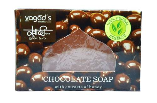Vagad's Khadi chocolate glycerin  hand made organic soap .