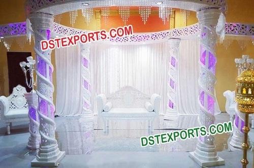 Modern Wedding Crystal Nisha Mandap