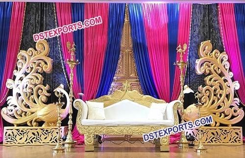 Peacock Theme Wedding Stage Set