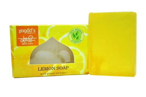 Vagad's Khadi Lemon glycerin  hand made organic soap .