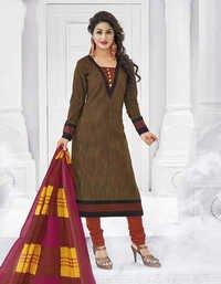 Brown Pink Cotton Printed Bollywood Salwar Suit