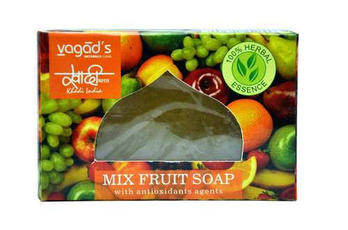 Vagad's Khadi Mix Fruit glycerin  hand made organic soap .