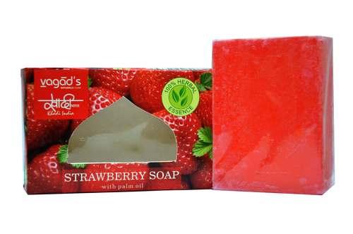 Vagad's Khadi Strawberry hand made organic soap .