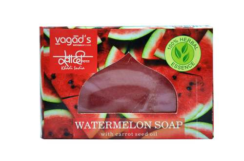Vagad's Khadi Watermelon hand made organic soap .