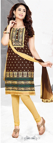 Maroon Cotton Embroidered Salwar Suit