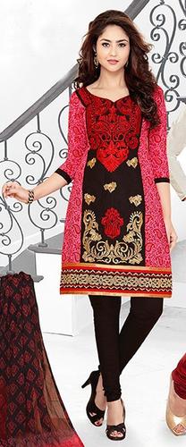Maroon Cotton Embroidered Punjabi Salwar Suit